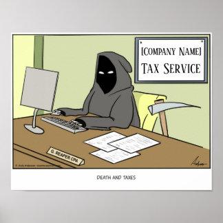 Todes- und der Steuernpersonalisiertes Plakat