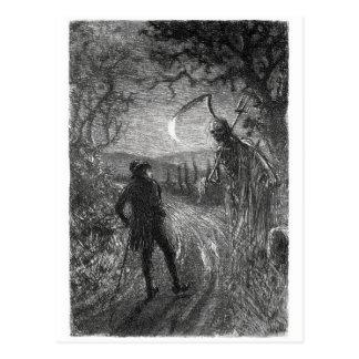 Todes- und Dr.hornbook Postkarte