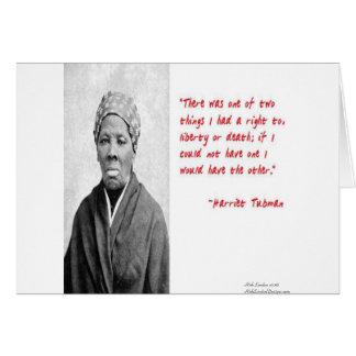 """Todes"""" Zitat-Geschenke Harriet Tubman Karte"""
