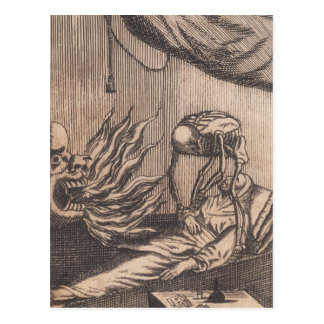 Todesillustration Circa 1792 Postkarte