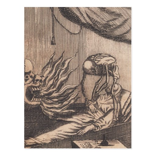 Todesillustration. Circa 1792. Postkarte