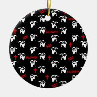 Todesmuster - Halloween Keramik Ornament