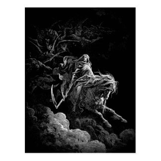Todesreiten über einer Himmelspostkarte Postkarte