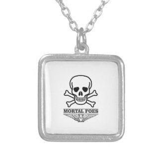 Todessterblichfeinde Halskette Mit Quadratischem Anhänger