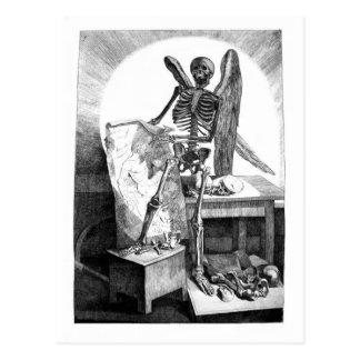 Todesstudien bemannt Anatomiepostkarte