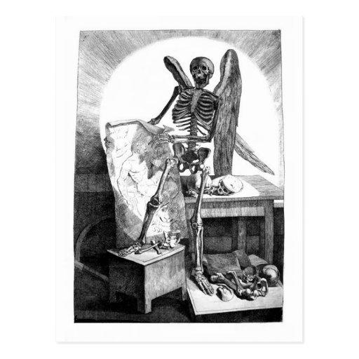 Todesstudien bemannt Anatomiepostkarte Postkarte