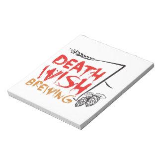 Todeswunsch-Brauen Notizblock