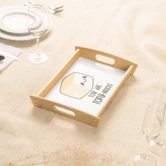 Tofu-rrific Emoji Serviertablett