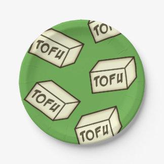 TOFU themed Party-Versorgungen Pappteller