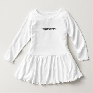 #TogetherWeRise Kleinkind-weißes Rüsche-Kleid Kleid