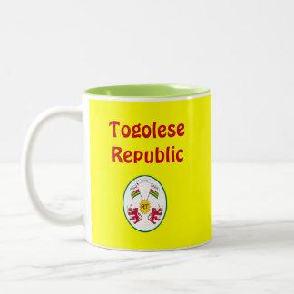 Togo Cofee Tasse/Togo-Kaffee-Haferl Zweifarbige Tasse