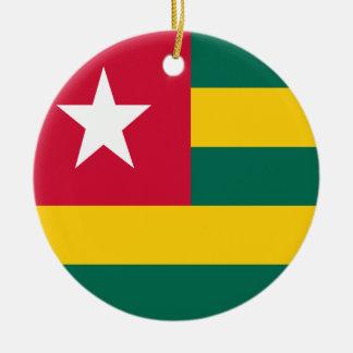 Togo-Flagge Keramik Ornament