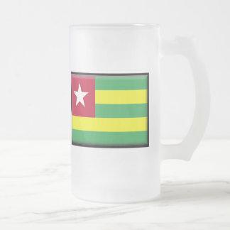 Togo-Flagge Mattglas Bierglas