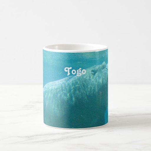 Togo-Flusspferd Tee Tasse