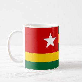Togo-Landesflaggenationssymbol Kaffeetasse