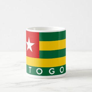 Togo-Landesflaggesymbol-Namentext Kaffeetasse
