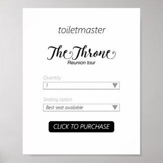 Toiletmaster Badezimmer-Druck Poster