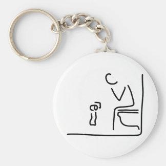 toilette verdauung reizdarm standard runder schlüsselanhänger