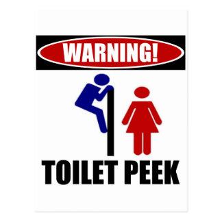 Toiletten-flüchtiger Blick Postkarte