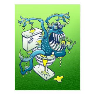 Toiletten-Monster Postkarten
