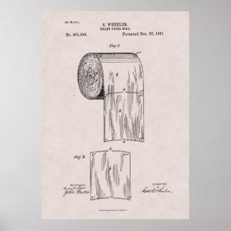 Toilettenpapier-Patent-Nr. 465,588 durch S. Poster
