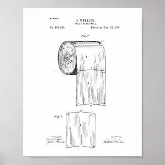 Toilettenpapier-Patent-Plakat, Poster