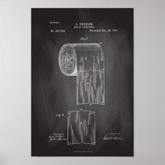 Toilettenpapier-Rollenpatent-Druck-Tafel-Plakat Poster