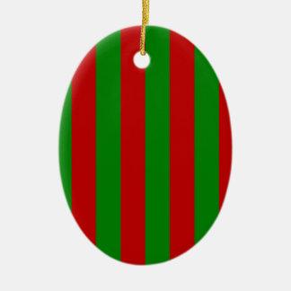 Toksie Turbie rote und grüne Tapete Keramik Ornament