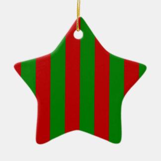 Toksie Turbie rote und grüne Tapete Keramik Stern-Ornament