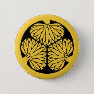 Tokugawa Shogune Montag (Wappen) Runder Button 5,1 Cm
