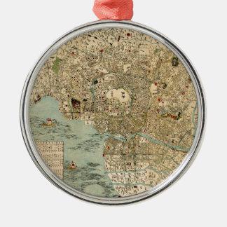 Tokyo 1854 silbernes ornament