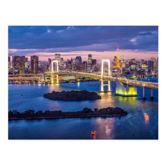 Tokyo an der Nachtpostkarte Postkarte