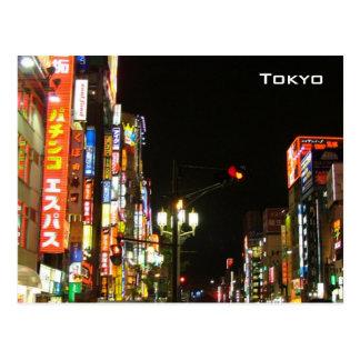 Tokyo bis zum Nacht Postkarte