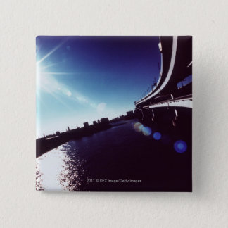 Tokyo-Bucht, Tokyo Quadratischer Button 5,1 Cm