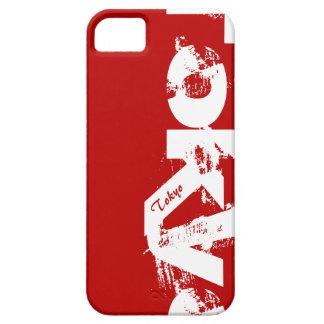 Tokyo - junge Art-städtisches getragenes Rot und iPhone 5 Etui