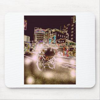 Tokyo-Rickshaw-Nacht Mousepad