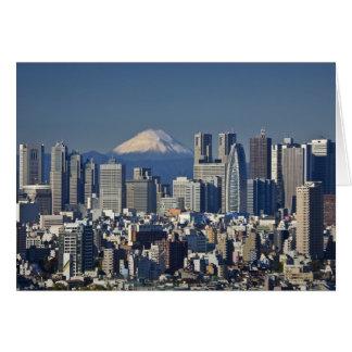 Tokyo, Shinjuku Bezirks-Skyline, der Fujisan, Karte