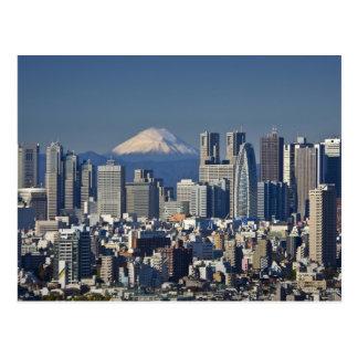 Tokyo, Shinjuku Bezirks-Skyline, der Fujisan, Postkarte