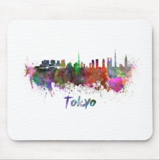 Tokyo skyline im Watercolor Mauspads
