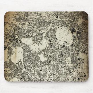 Tokyo-Stadt-Straßen-und Gebäude-Vintager Entwurf Mousepad