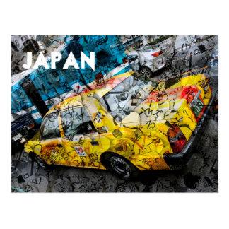 Tokyo-Taxi Postkarte