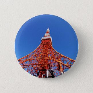 Tokyo-Turm Runder Button 5,7 Cm