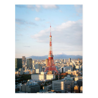 Tokyo Turm und Fujisan Postkarte