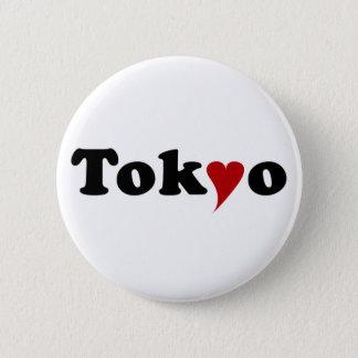Tokyo with Heart Runder Button 5,7 Cm