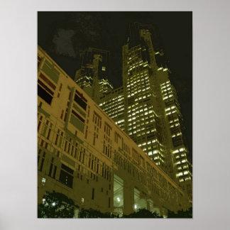 Tokyostadtregierungs-Gebäude Poster
