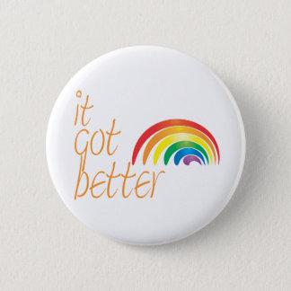 Toleranz-Gay Pride-Regenbogen Runder Button 5,1 Cm
