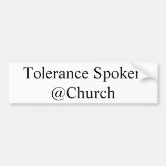 Toleranz gesprochener @Church Aufkleber Autoaufkleber