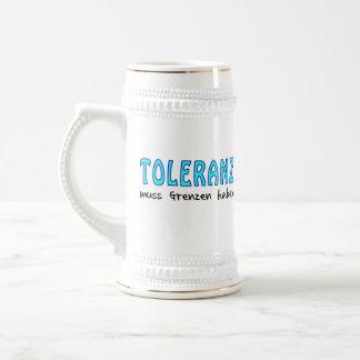 Toleranz muss Grenzen haben Bierglas