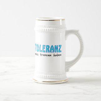 Toleranz muss Grenzen haben Bierkrug