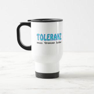 Toleranz muss Grenzen haben Edelstahl Thermotasse